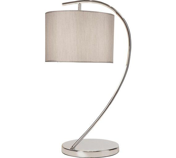 Buy heart of house bourne arc chrome table lamp natural at argos co