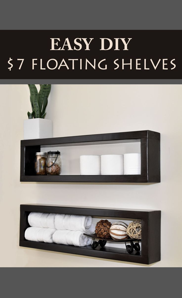 How to Make a $7 Floating Shelf -   15 diy projects Cheap simple ideas