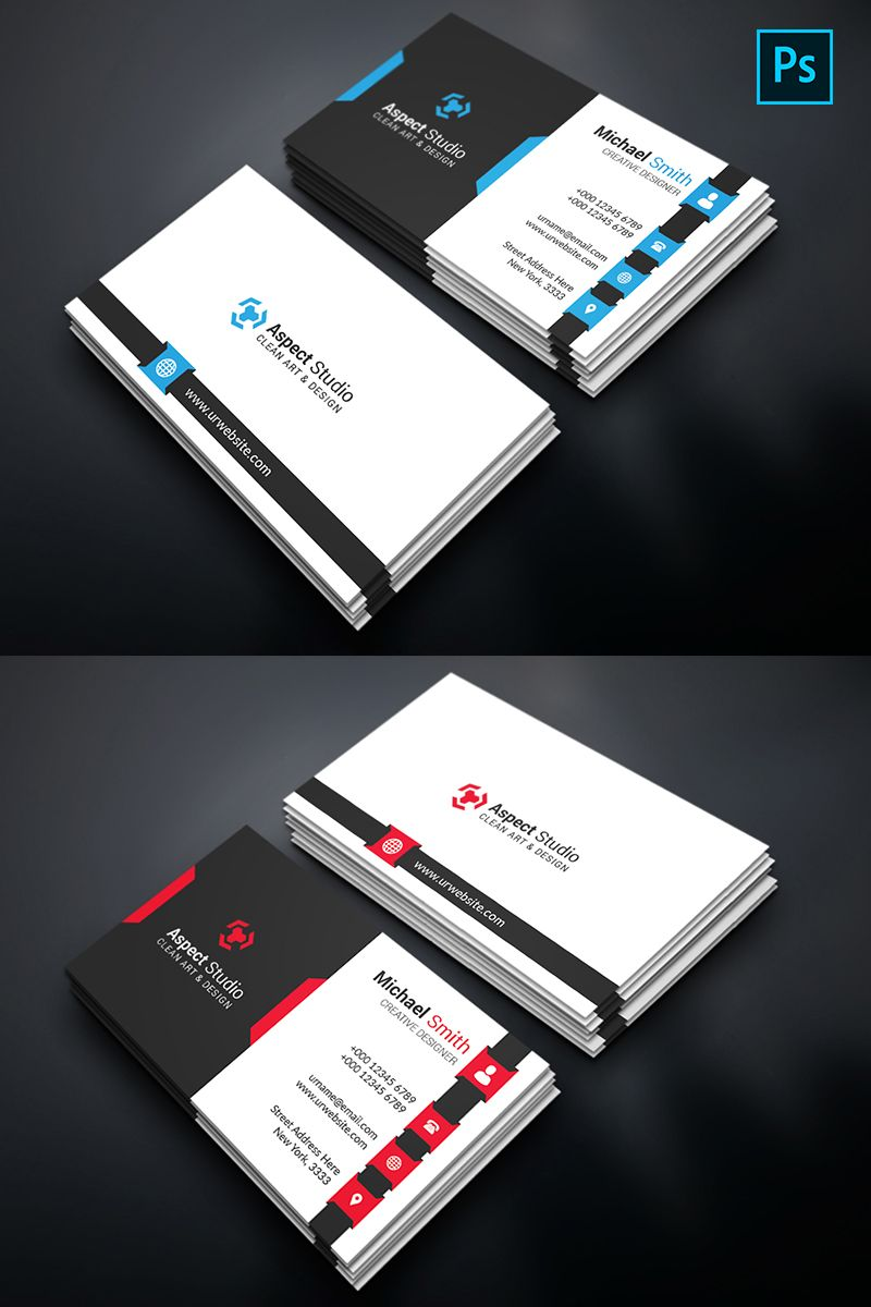 Michael Smith Business Card Corporate Identity Template 74612