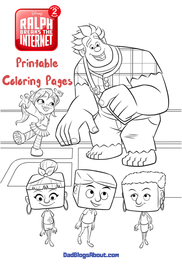 Keep The Kids Entertained With These Ralph Breaks The Internet Wreck It Ralph 2 Free Printable Color Coloring Pages Disney Coloring Pages Space Coloring Pages
