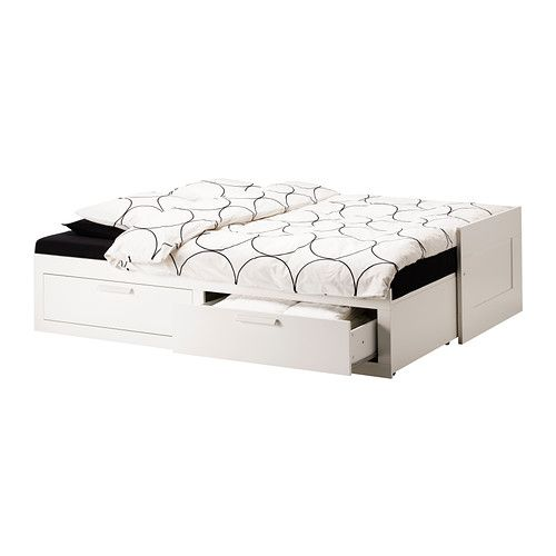 Brimnes day bed frame with 2 drawers white 80x200 cm - Letto contenitore ikea brimnes ...
