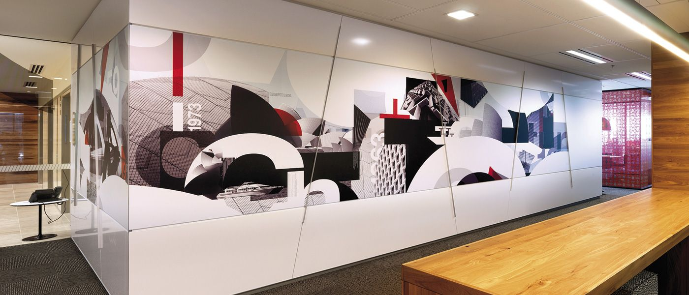 Visua strategic brand design melbourne australia for Environmental graphics wall mural