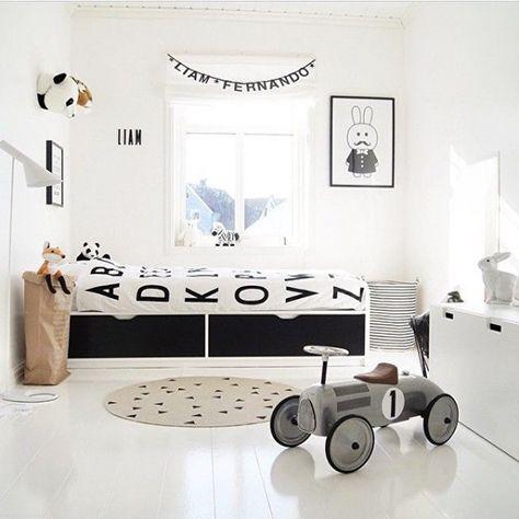 deco chambre garcon noir et blanc