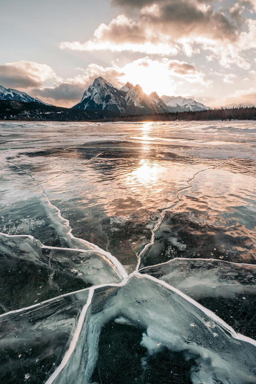 Into The Wild - banshy: Abraham Lake by: Stevin Tuchiwsky