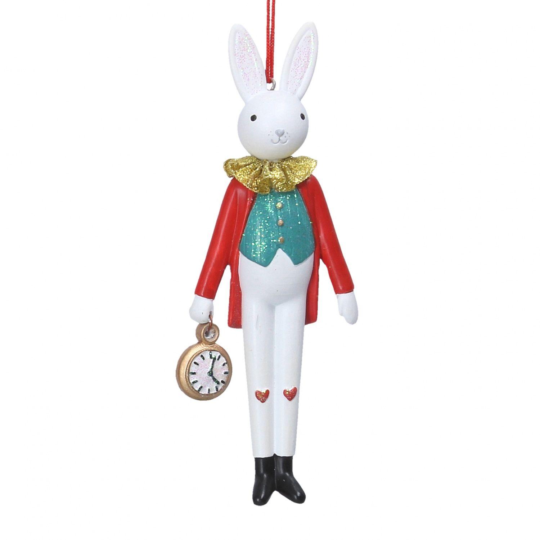 Gisela Graham Resin Rabbit with Watch Christmas Decoration ...