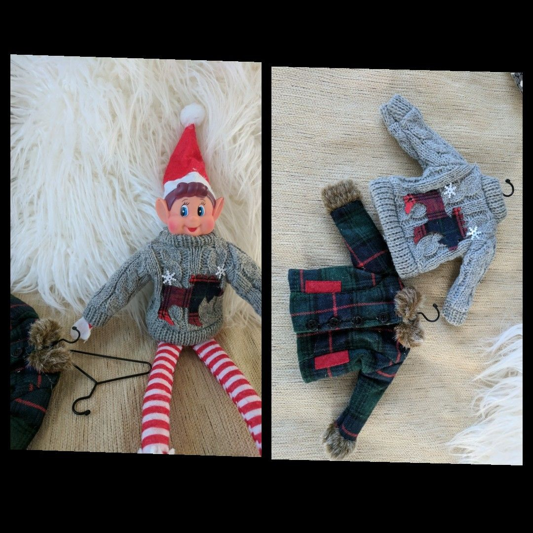 Elf on the shelf clothing Cheaper version Canadian tire