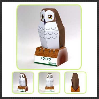 Paper Owl Template  Animal Paper Model  Owl Free Template