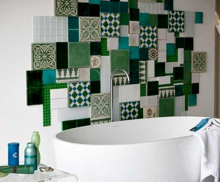 Scegliere i rivestimenti per il bagno piastrelle in ceramica verde