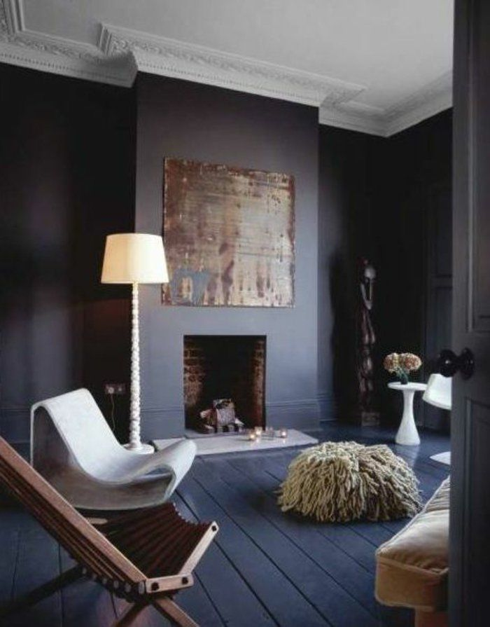 Le gris anthracite en 45 photos d\u0027intérieur! Salons, Room ideas - Wohnzimmer Design Wandfarbe Grau