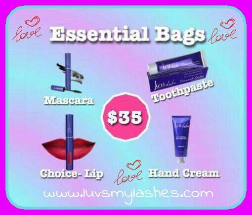 Every gal needs one of these.... Essential Bags😍😍 Each bag contains one toothpaste (with or without fluoride), one shea hand cream, one skyscraper mascara, and one lip product of your choice for just $35🙀. Only 15 available‼️ Don't miss out on yours💋 Get a discount on shipping if you reserve your order today! Order going in on Friday!  Lilsass42@outlook.com  www.luvsmylashes.com