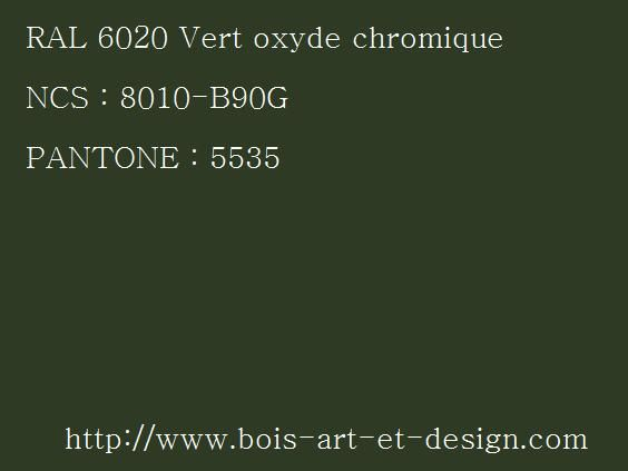 ral 6020 vert oxyde 564 423 codes ral codes ncs codes pantone 207. Black Bedroom Furniture Sets. Home Design Ideas