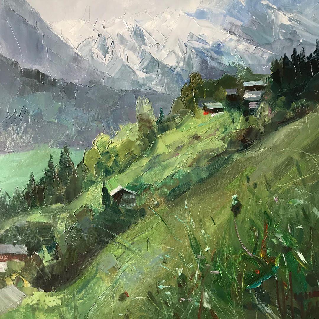 """Vladimir Volegov on Instagram """"Plein air in Engelberg"""