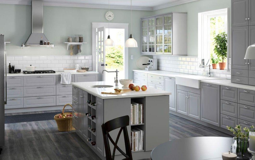 Ikea Bodnyn grau (kücheninsel) küche Pinterest Graue - ikea kuche schwarz weiss