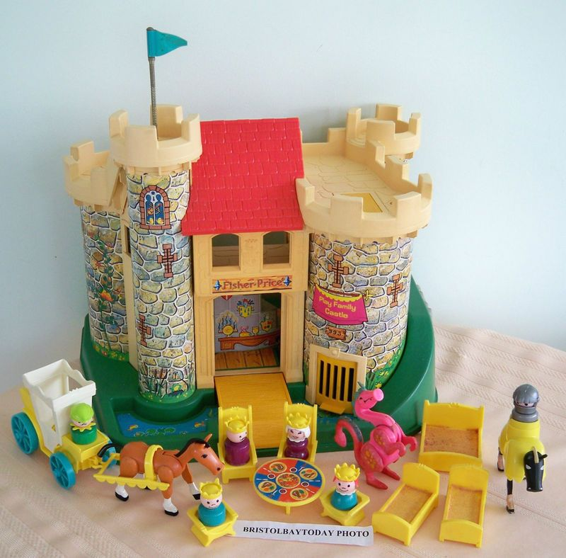 Vintage 1974 Fisher Price Castle Accessories Dragon Wood