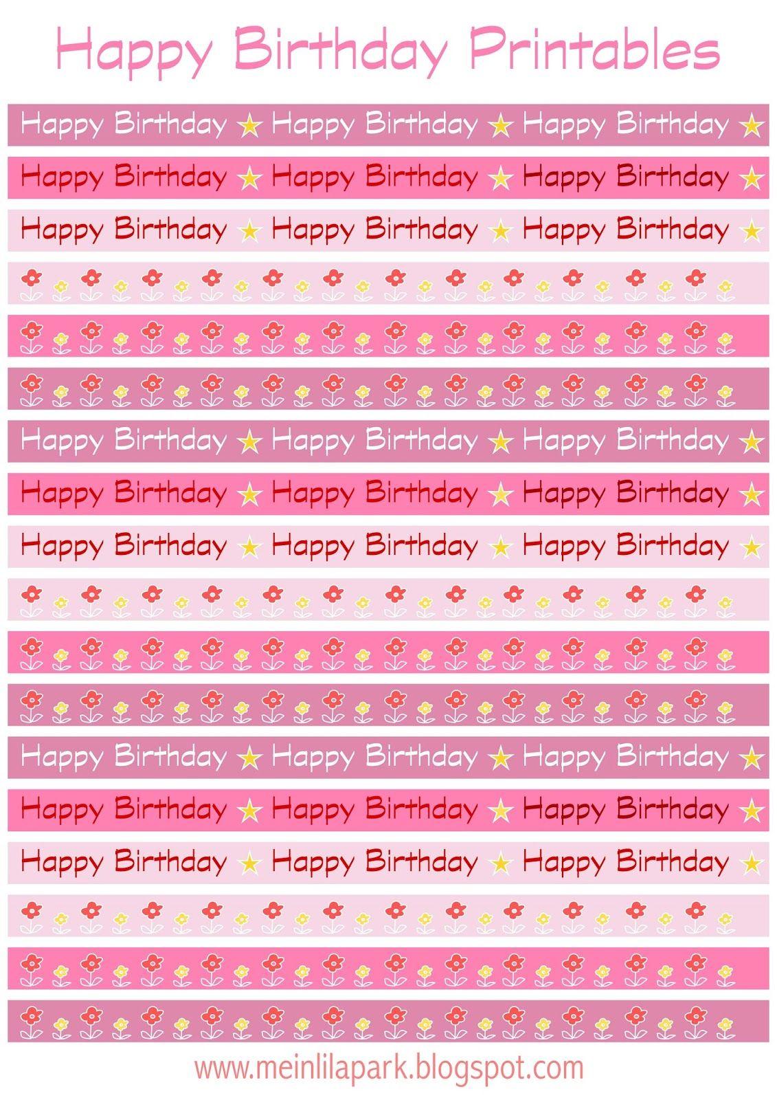 Free Printable Happy Birthday Border Sheet