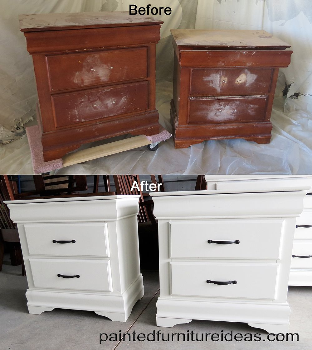 8 Drawer Dresser Makeover  White painted furniture White paints