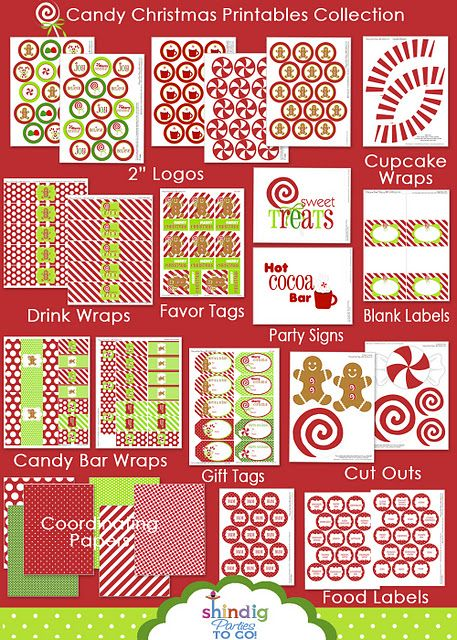 candy Christmas printables
