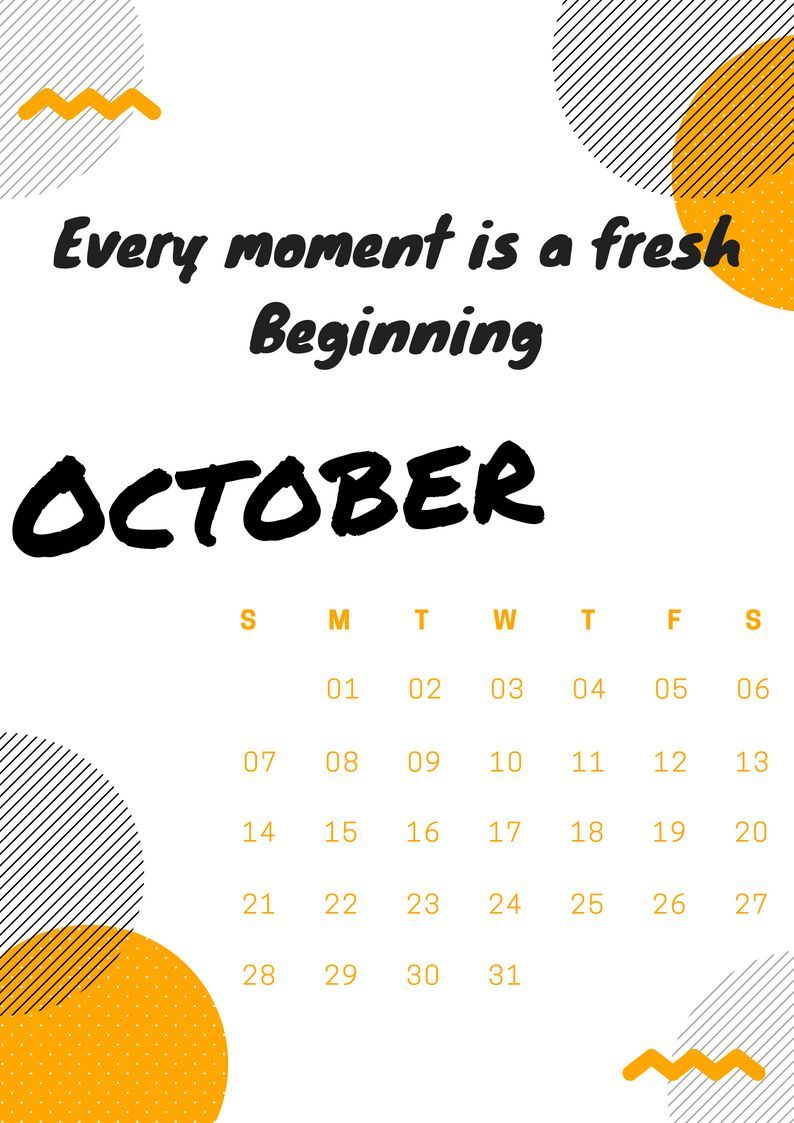 October 2018 Inspirational Calendars With Quotes Inspirational