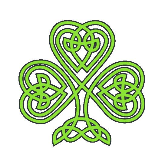 saint patricks day celtic shamrock  SVG - All sizes free downloads!