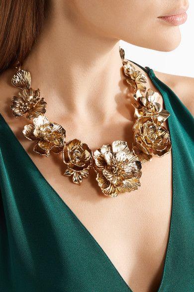 Chapado En Oro Collar - Un Tamaño Oscar De La Renta KZR5E