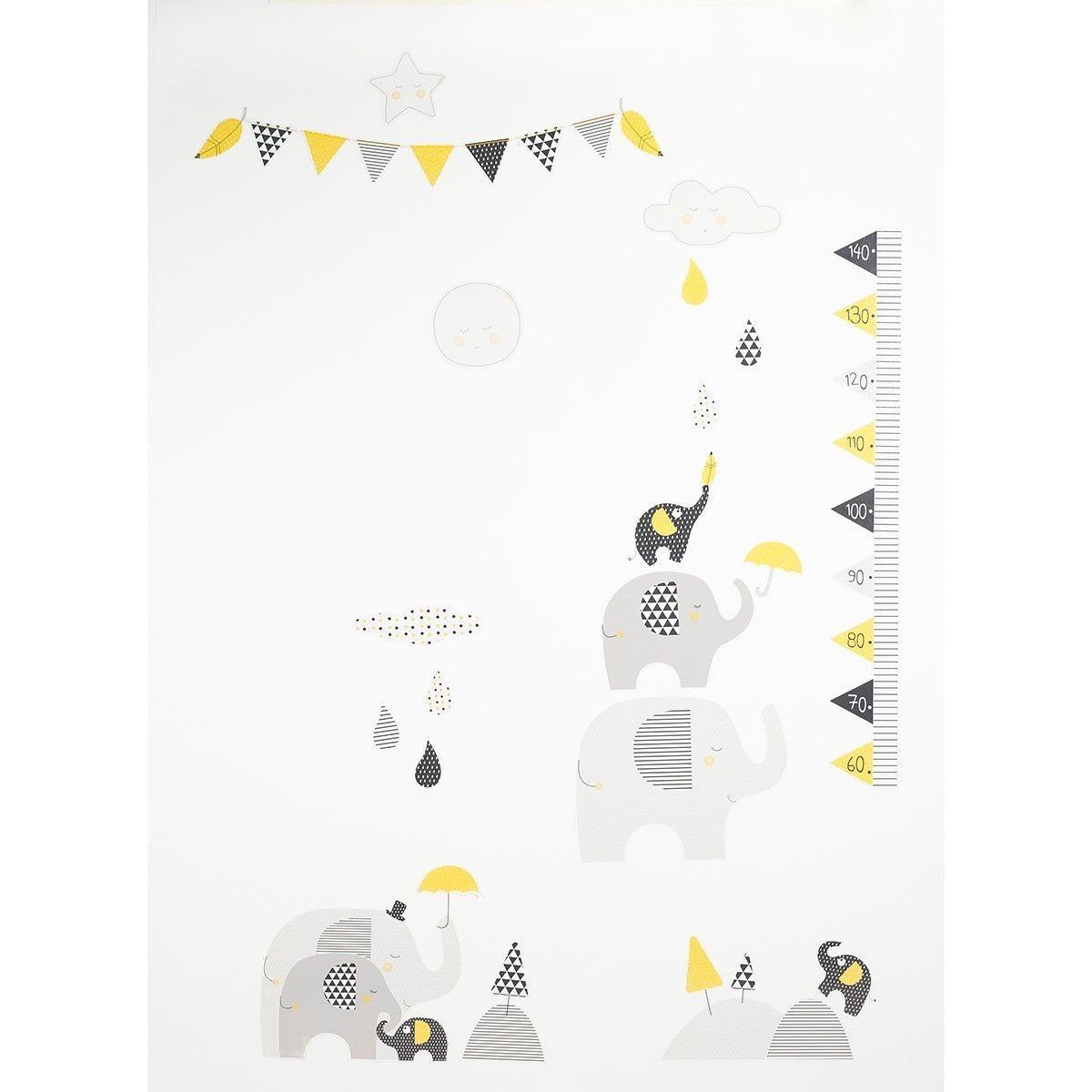 KSell Mignon Fille Hauteur Mesure Stickers Muraux Croissance de Mesure Autocollant D/écoration Murale pour Enfants D/écalque Enfants Papier Peint Murale B/éb/é Fille Gar/çon Chambre