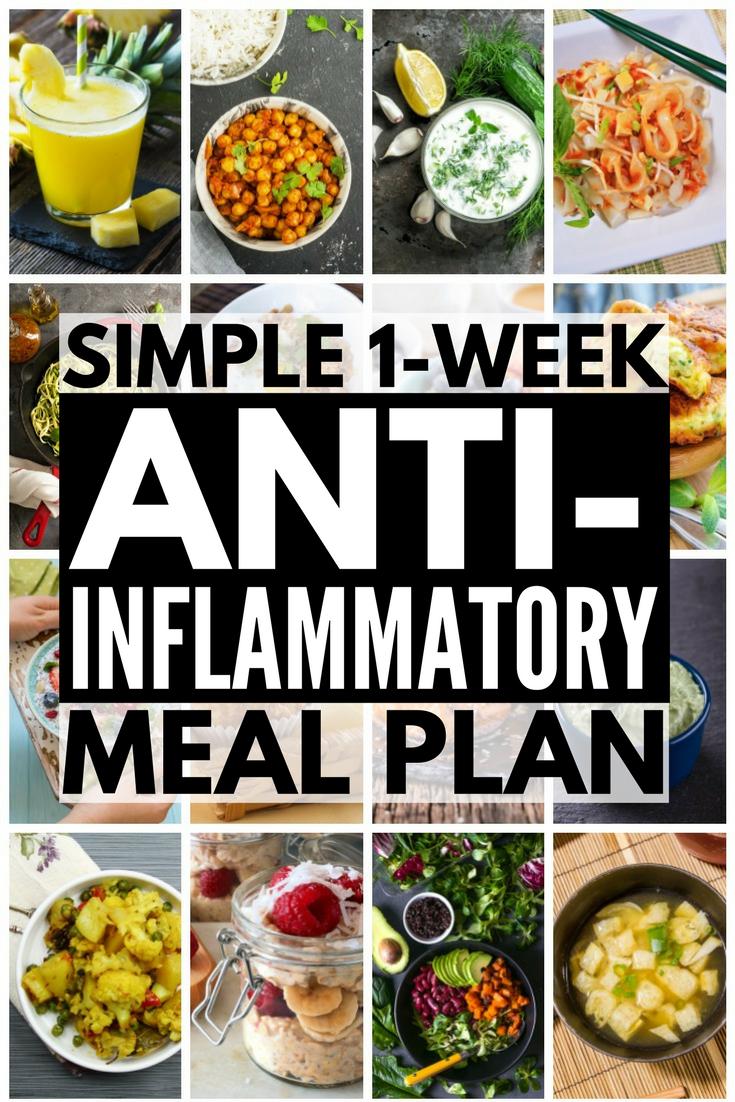 Anti Inflammatory Meal Plan 7 Day Anti Inflammatory Diet