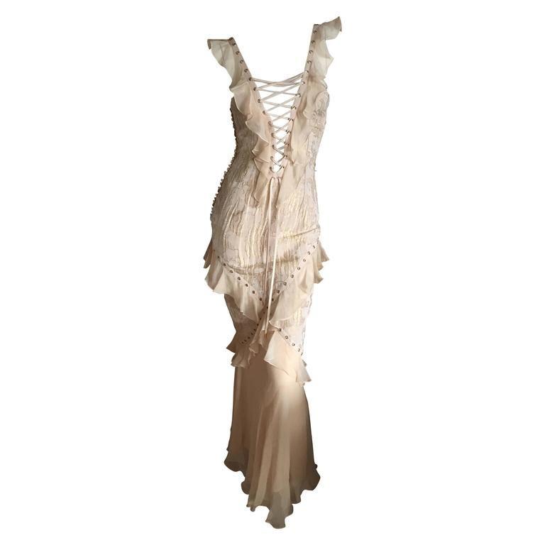 Christian Dior By John Galliano Romantic Gold Silk Corset