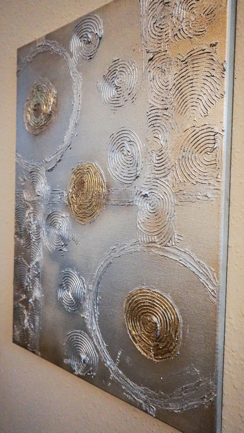 Textured abstract painting / art on 18 x 24 canvas