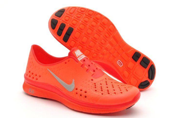 Free Run 5.0 Womens Shoes Olympic Running Orange Grey