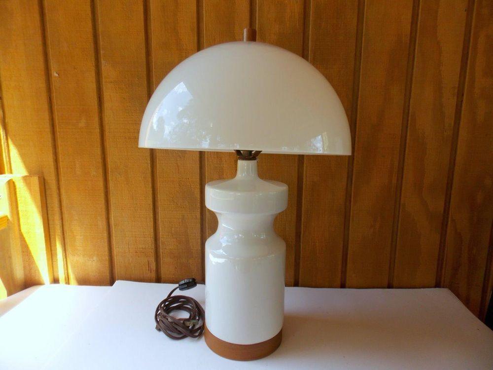 Mid century mushroom lamp eames vintage mod table lamp for Eames lampe
