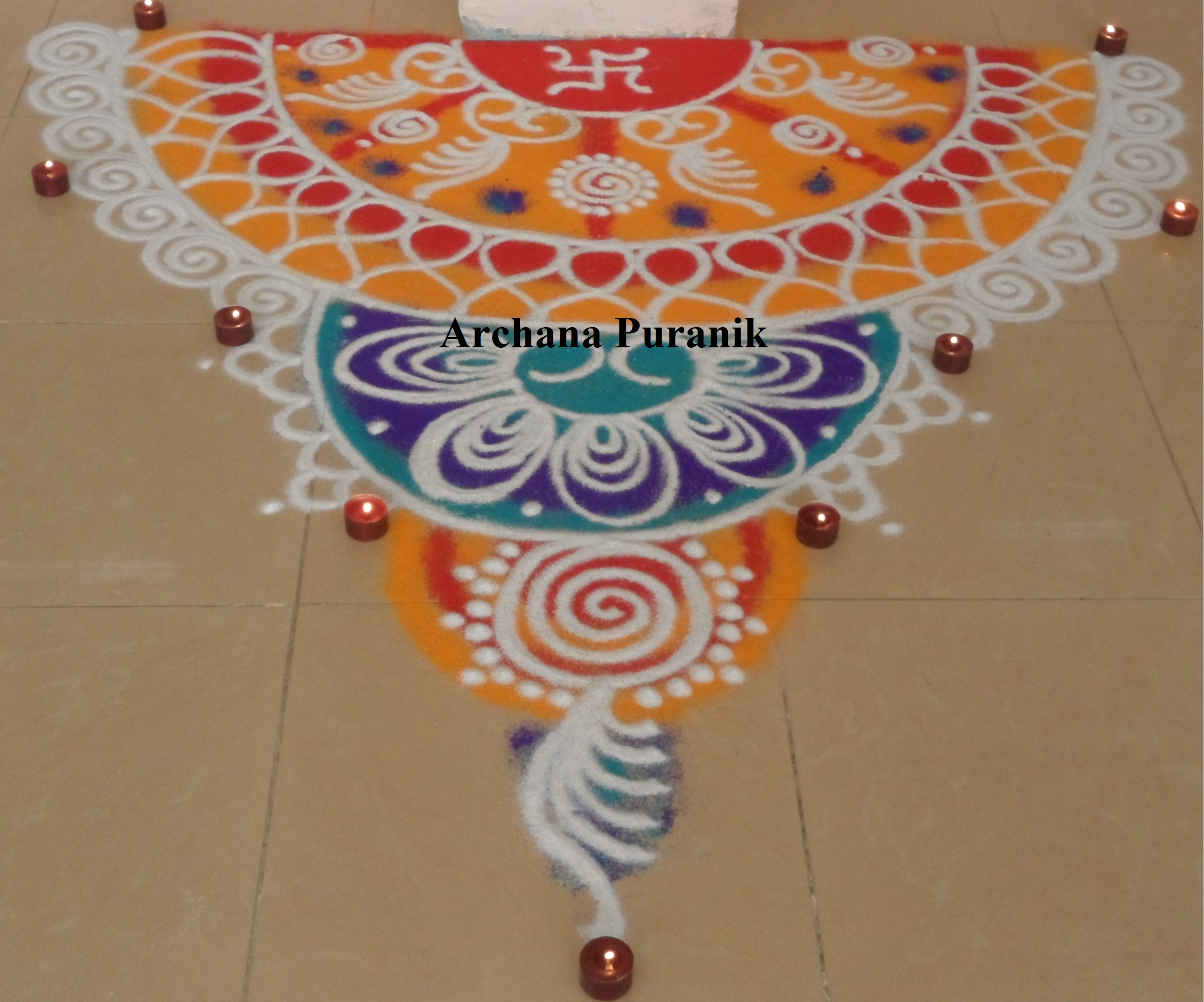 Simple Sanskar Bharti Rangoli This Is Indian Tradition Speciali In Maharashtrian Culture