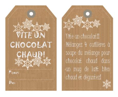Mix pour chocolat chaud recette chaud gourmands et cadeau - Cadeau gourmand fait maison noel ...