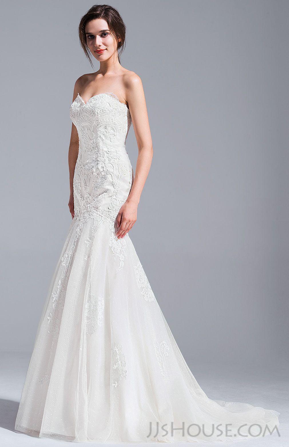 Us 385 00 Trumpet Mermaid Sweetheart Court Train Lace Wedding Dress Jj S House Wedding Dresses Lace Stunning Wedding Dresses Wedding Dresses [ 1562 x 1011 Pixel ]