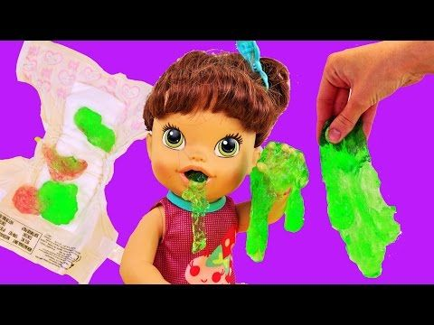 Baby Alive Lucy Dolls Eats Slime Gooey Green Food Gross Diaper Change By Disneycartoys Http Mybabyreview C Baby Alive Baby Alive Dolls Diaper Changing