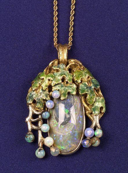 Black Opal Opaline And Enamel Pendant Tiffany Amp Co