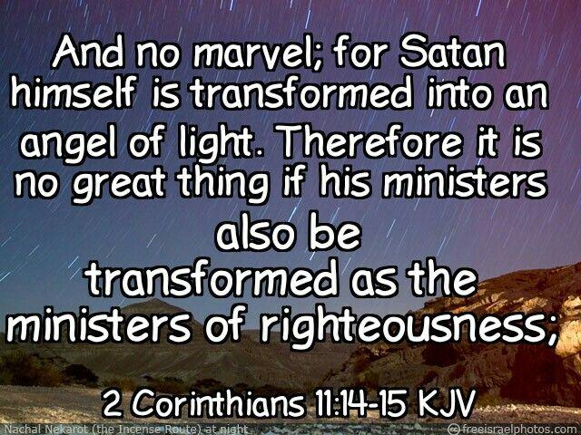 2 Corinthians 11:14-15 KJV