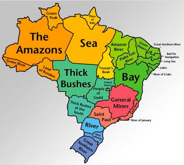 Brazilian State Names Translated