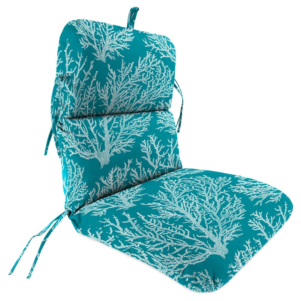 Outdoor Knife Edge Dining Chair Cushion In Seacoral
