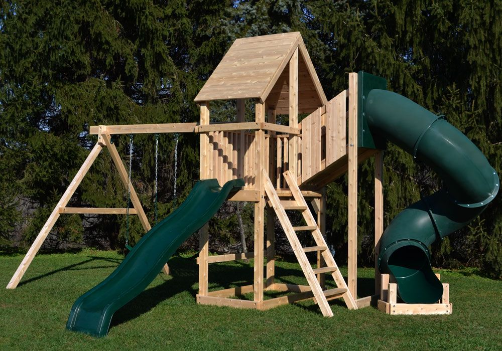 Blast Into Summer With A Swing Set Big Enough For The Whole Family