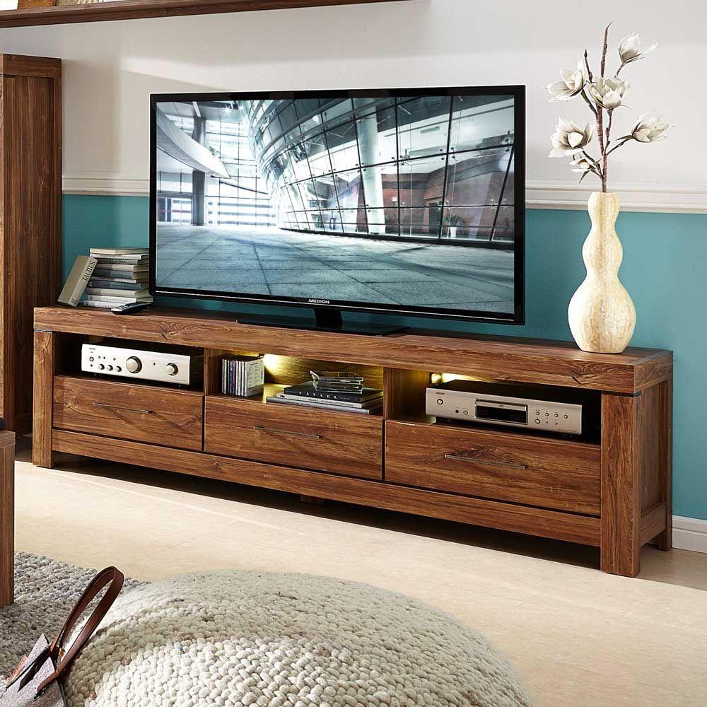 TV Unterschrank Mit LED Beleuchtung Akazie Dunkel Jetzt Bestellen Unter Moebel