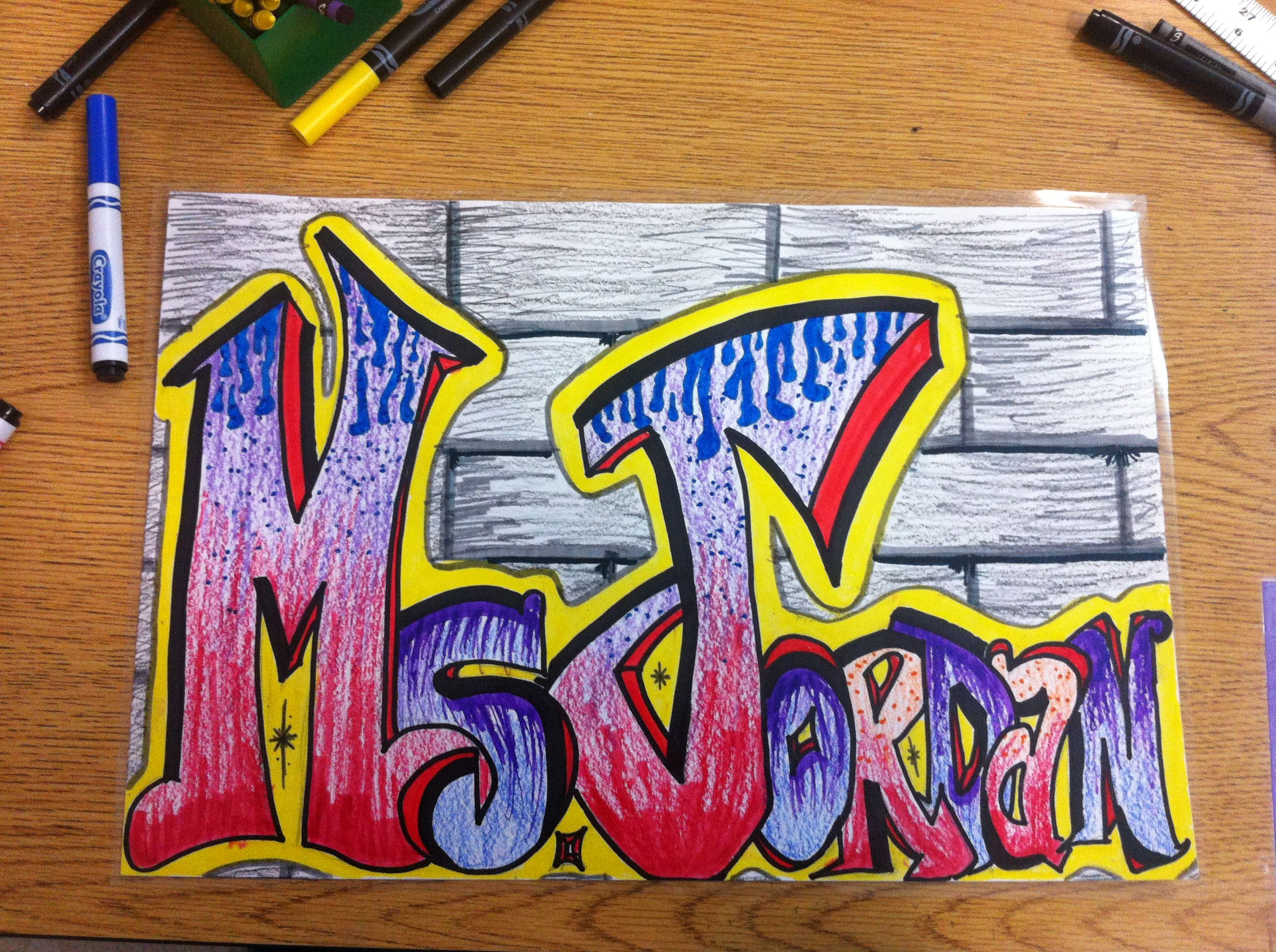 8th Grade Graffiti Letters