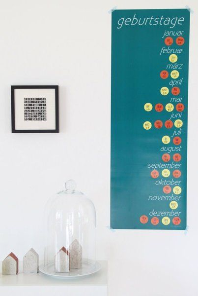 poster als geburtstagskalender von auf. Black Bedroom Furniture Sets. Home Design Ideas