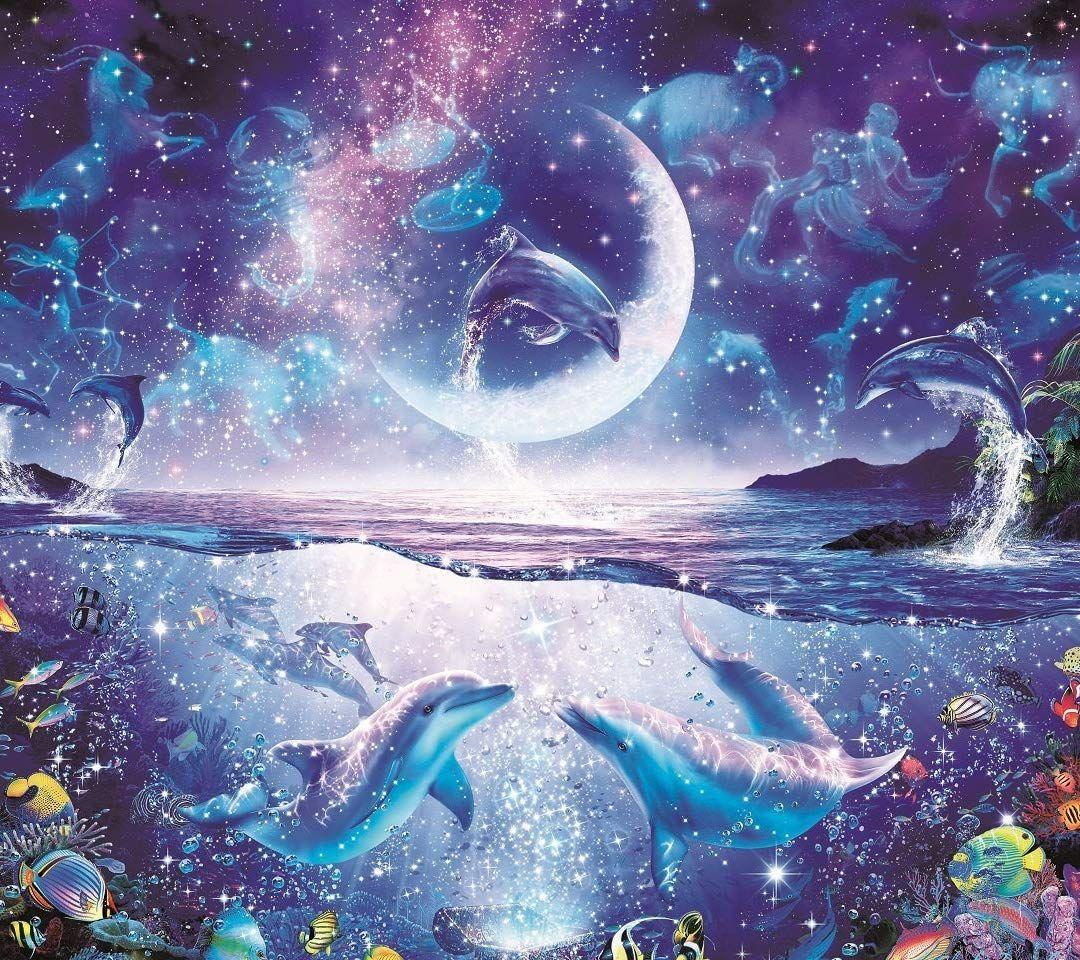 ラッセン Qhd 1080 960 アメージング ナイト その他 スマホ用画像 ラッセン 壁紙 海のアート 綺麗なイラスト壁紙背景