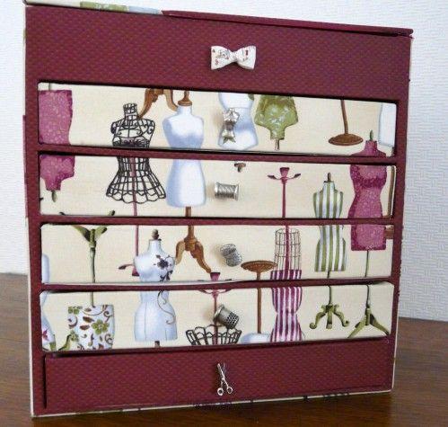 Bo te couture tiroirs box pinterest tiroir for Boite 0 couture