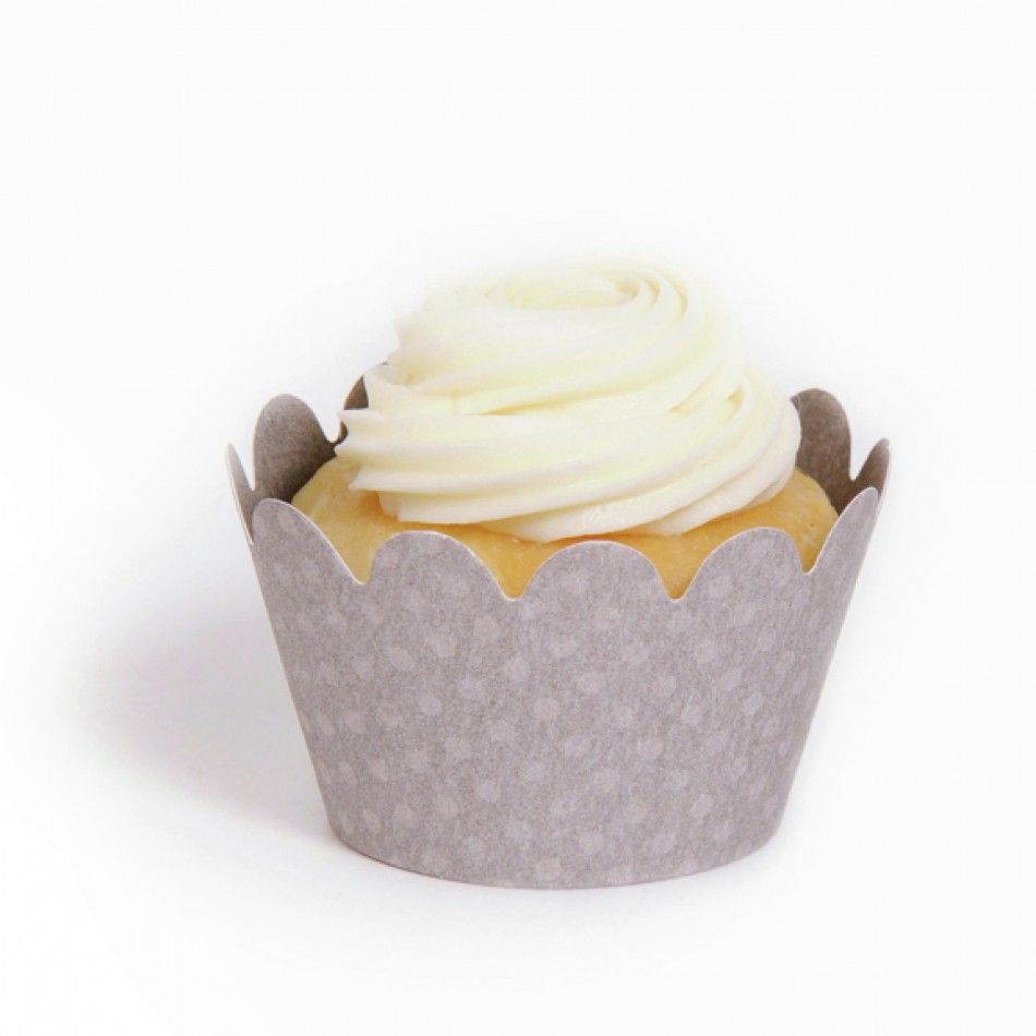 Maya Mini Cupcake Wrappers - Grey (18 Wrappers) BEST SELLER ...