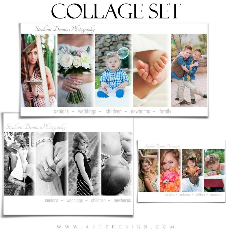 simply chic collage templates for photographers ashe designs