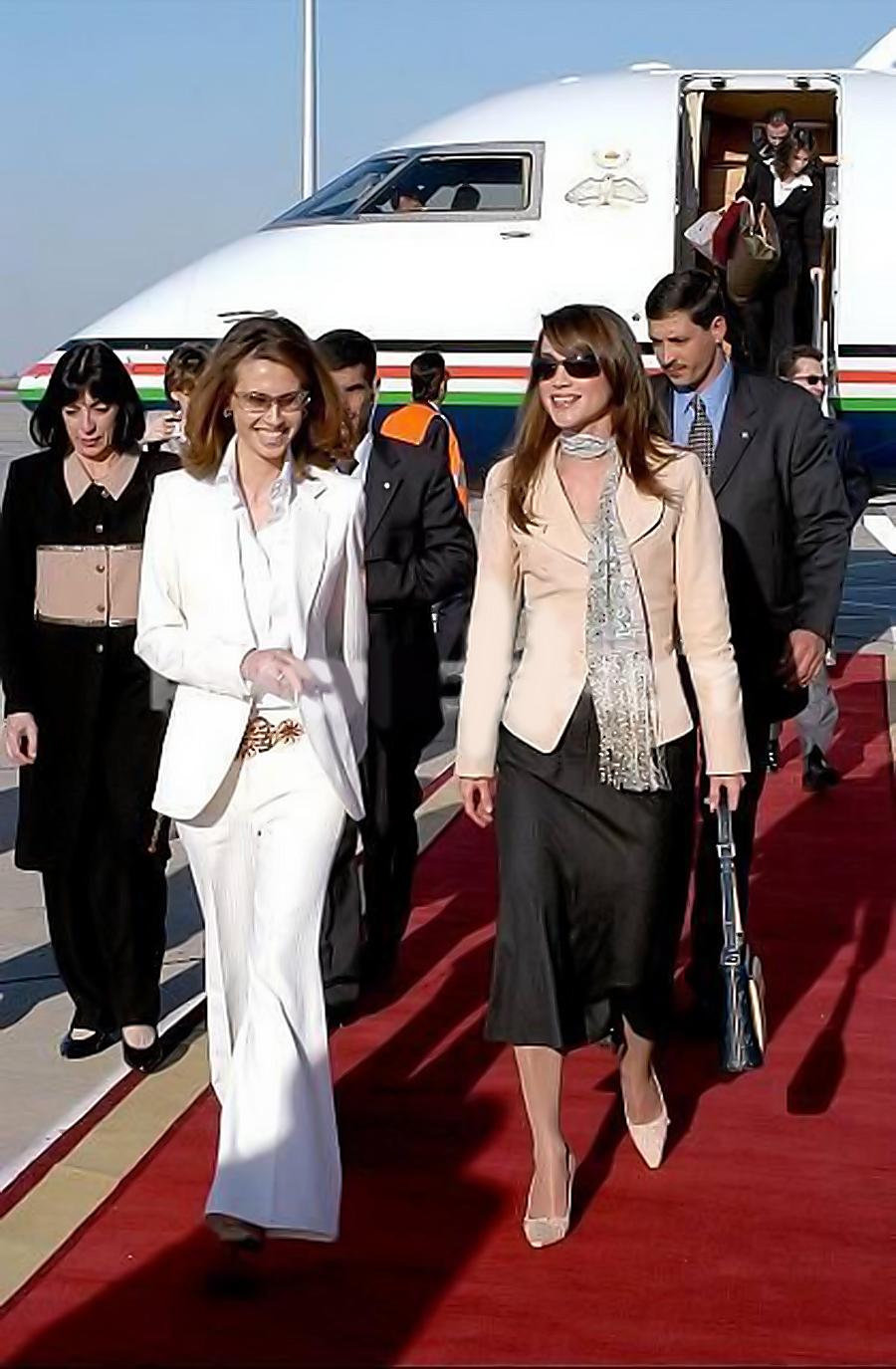 Asma Assad First Lady Of Syria And Queen Of Jordan Rania Al Abdullah Unluler