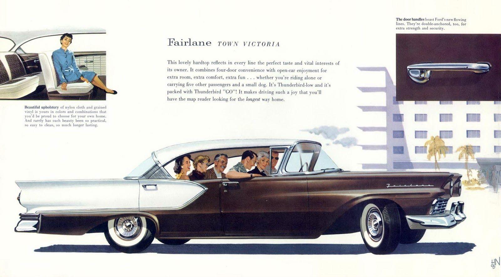 1957 Ford Fairlane Town Victoria Jpg 1600 886 Ford Fairlane Fairlane Car Ads
