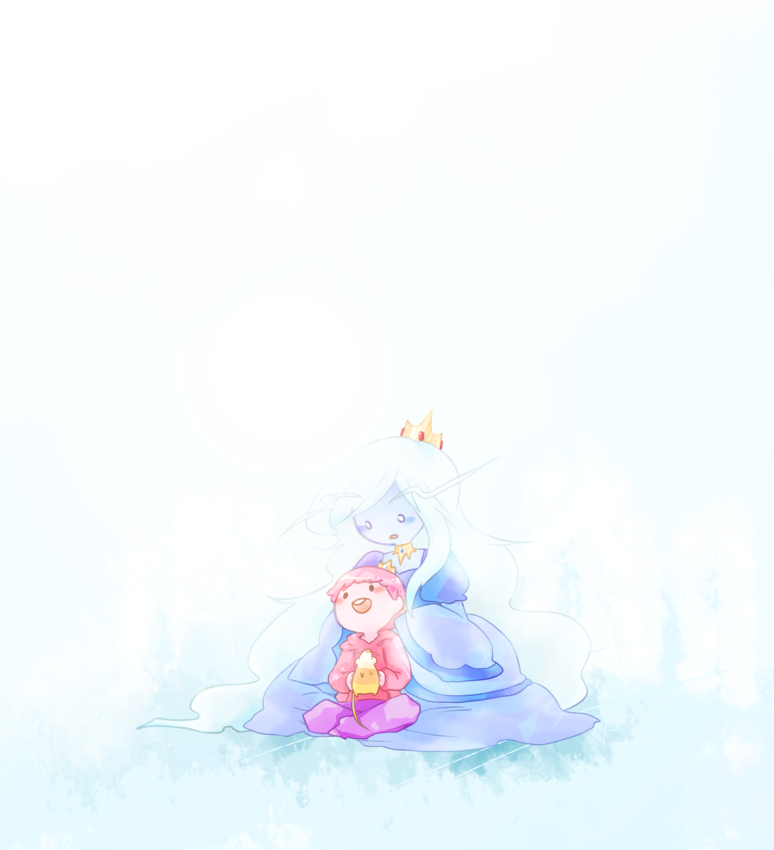 Prince Gumball & Ice Queen - Adventure Time: Aww, I love this picture <3