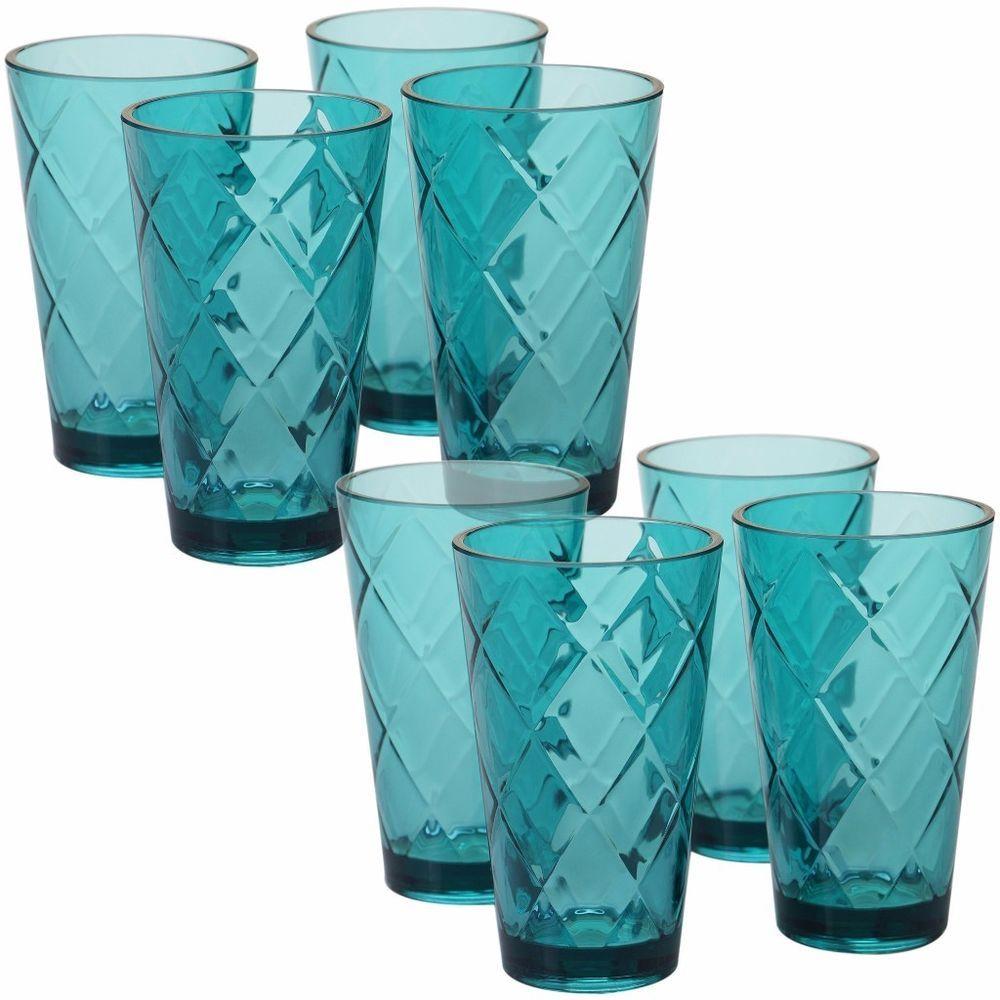 Certified International Acrylic 20-ounce 8 Ice Tea Glass Indoor Outdoor Decor  #glasses #indoor #outdoor #kitchen #dining #bar #icetea
